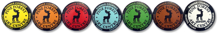 Pine Forest Art Centre badges