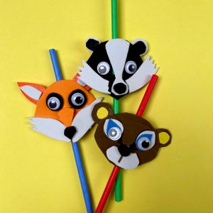 Funky Foam Forest Creatures Drinking Straws
